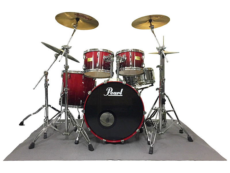 Pearl Drum Set Red